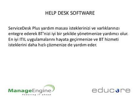 manage service desk plus manage engine help desk software service desk plus sunumu