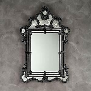 Miroir Vénitien Ancien : zelinda miroir v nitien noir venetian mirrors ~ Preciouscoupons.com Idées de Décoration