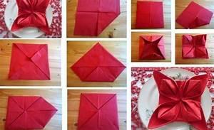 Pliage Serviette En Papier Noel : pliage de serviette pour no l des id es magnifiques ~ Farleysfitness.com Idées de Décoration