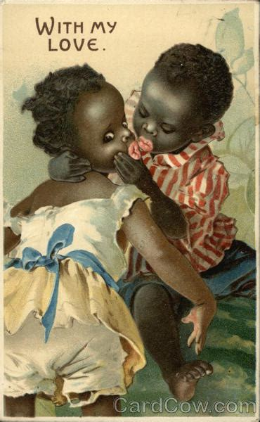 black children kissing black americana