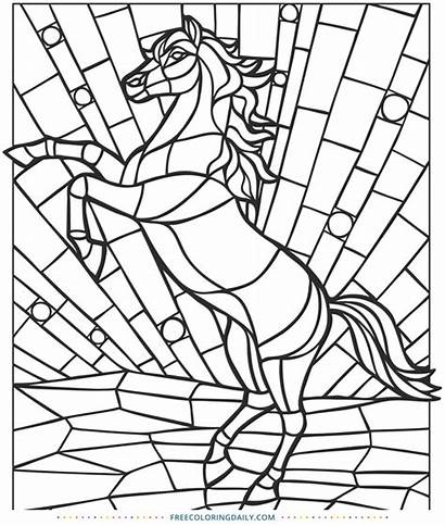 Stained Glass Horse Coloring