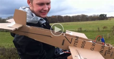 These Guys Built A Cardboard Plane And The Test Flight Is