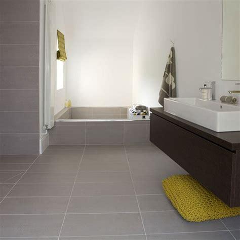 Bathroom Grey Tile Flooring
