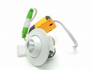 Mini Spot Led Encastrable : mini spot encastrable led cob 3w 45 rond orientable ~ Dode.kayakingforconservation.com Idées de Décoration