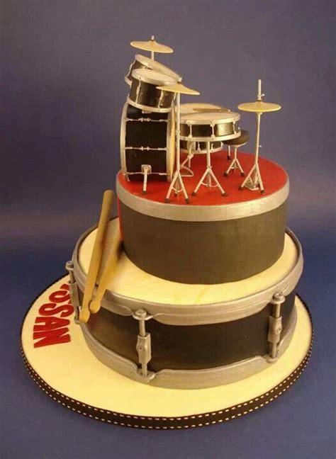 drum set fondant cake  fondant cake pinterest
