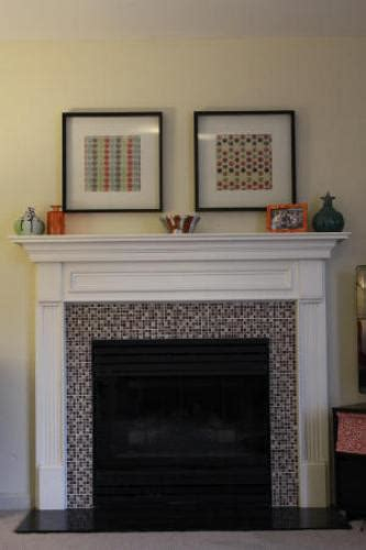 mosaic tile fireplace mosaic tile fireplace makeover doityourself