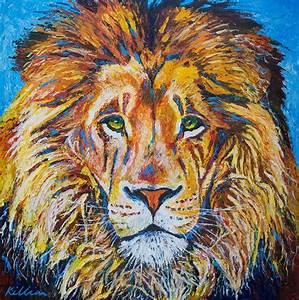 Lions Head Painting by Patrick Killian