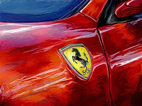 Photo art print (high quality). Ferrari Badge Digital Art by David Kyte