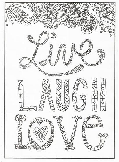 Coloring Pages Laugh Quotes Timeless Creations Quote