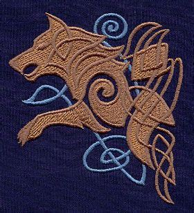 celtic wolf tattoos broderie viking motif celtique