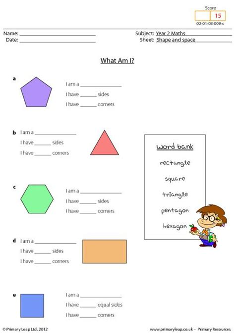 what shape am i worksheet shape and space what am i primaryleap co uk