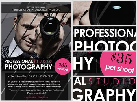 Photography flyer template costumepartyrun photography advertising templates free free html5 theme maxwellsz