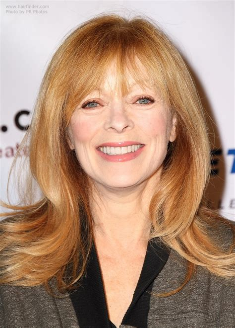 frances fisher long hairstyle  women aged