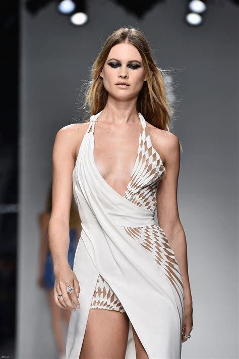 Behati Prinsloo See Through At Atelier Versace Fashion Show
