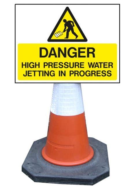danger high pressure water jetting  progress jet wash