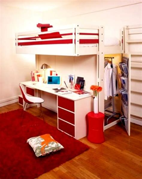 bed desk and closet in one furniture
