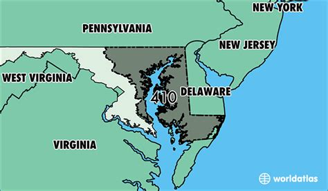 Where Is Area Code 410  Map Of Area Code 410 Baltimore
