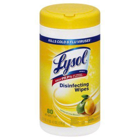 Lysol Disinfecting Wipes, Lemon and Lime Blossom, 80 Count