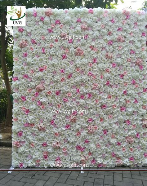 uvg diy luxury backdrop wedding  pink artificial rose