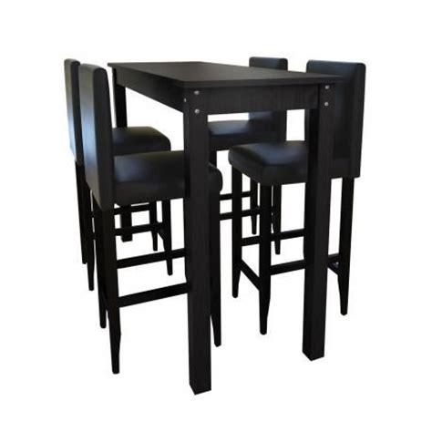 table bar mange debout 4 tabourets stylashop achat vente table salle a manger pas cher