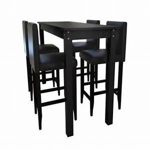 Table Bar Mange Debout 4 Tabourets Stylashop AchatVente Table Salle A Manger Pas Cher
