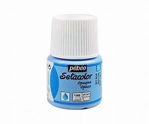 Peinture Bleu Ciel : peinture textile setacolor pour tissus opaque bleu ciel ~ Melissatoandfro.com Idées de Décoration