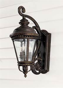 Contemporary Lantern Lighting Murray Feiss Ol1901gbz Castle Outdoor Wall Lantern