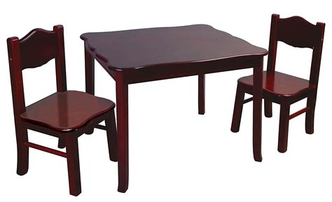 2 chair table set guidecraft classic espresso table and chairs set g86202
