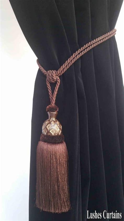 drapery cord tassel brown window treatment curtain drapery wood tassel doubel