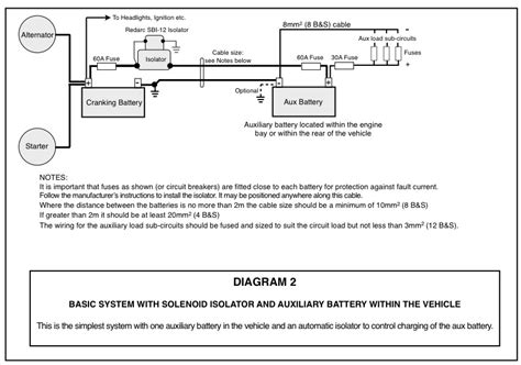auxiliary battery system wiring diagrams  exploroz blogs