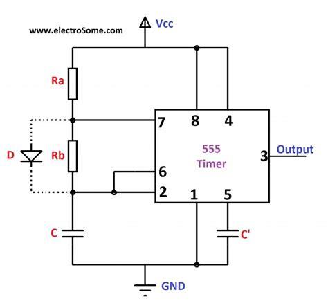 Astable Multivibrator Using Timer Circuit Diagram