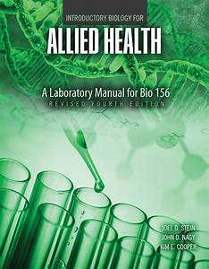 Introductory Biology For Allied Health  A Laboratory