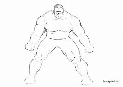 Draw Hulk Incredible Step Muscles Drawingforall