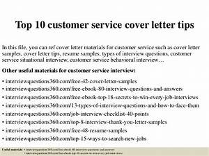 good cover letter examples for customer service - top 10 customer service cover letter tips