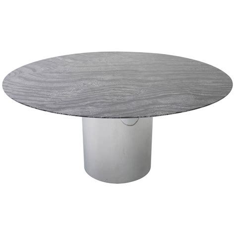 round marble table top knoll dining table with 60 quot round marble top at 1stdibs