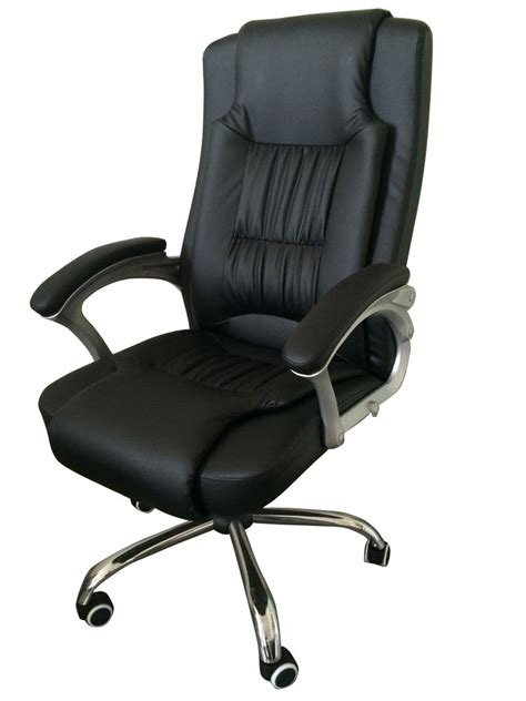 high back leather executive office desk computer chair w
