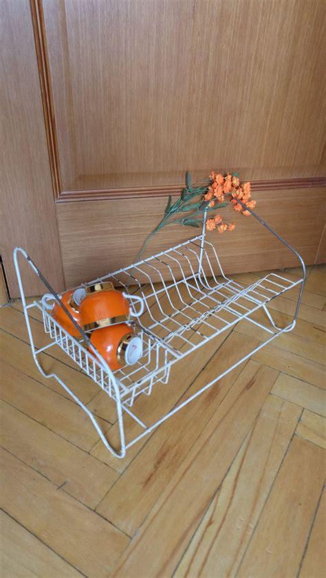 vintage kitchen dish draining rack  rack  drying