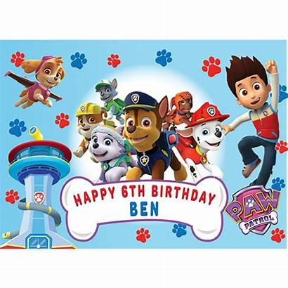 Paw Patrol Cake Rectangle Topper Birthday Toppers