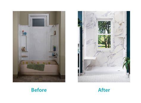 bathroom remodel ideas walk in shower before after san diego bath wraps