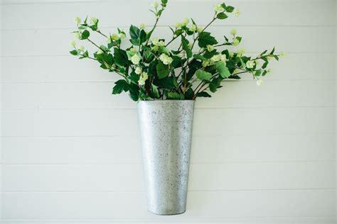 galvanized hanging bucket galvanized wall planter