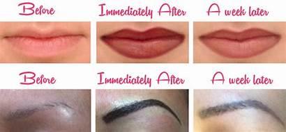 Permanent Makeup Before Eyeliner Eyebrows Eyebrow Eye