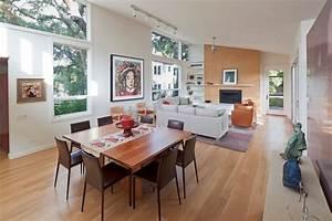 Smart Home Einrichten : 30 dekovorschl ge f r wohnzimmer mit essbereich ~ Frokenaadalensverden.com Haus und Dekorationen