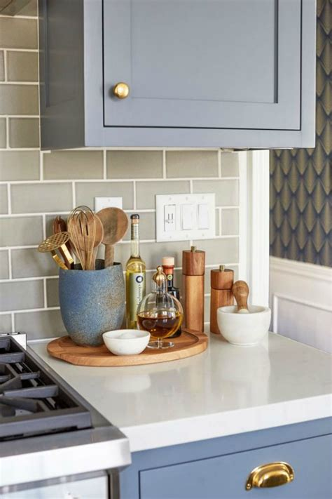 Kitchen Countertop Decorative Accessories by Kitchen Styling How To Organise Your Kitchen Bench The