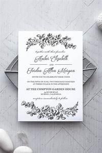 Wedding Invitation Printable Templates Printable Wedding Invitation Template Rustic Alchemie