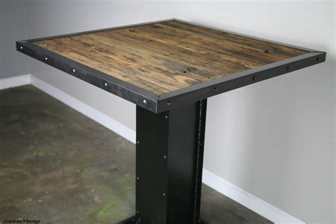 Bistro/dining Table. Modern Industrial Design. Reclaimed Wood
