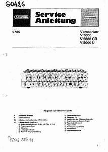 Grundig V5000 V5000gb V5000u Amplifier Service Manual