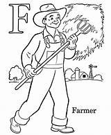 Farm Coloring Pages Preschool Colouring Children Popular sketch template