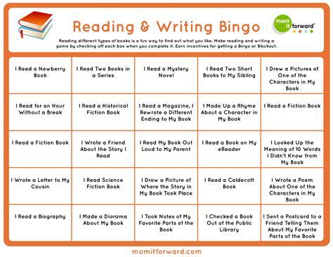 Reading And Writing Bingo Printable  Mom It Forwardmom It Forward