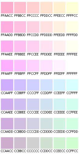 pastel color codes code html des couleurs pastel do it yourself