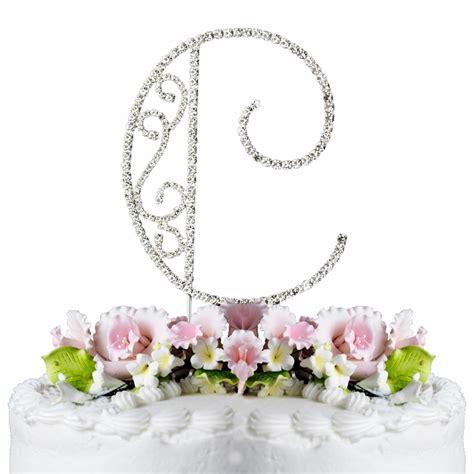 romanesque swarovski crystal wedding cake topper letter